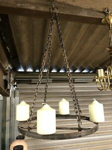 Hanging Candle Chandelier Hand Made