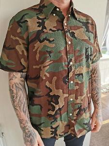POLO RALPH LAUREN Men's Short Sleeve 100% Cotton Camouflage Shirt! Classic Fit !