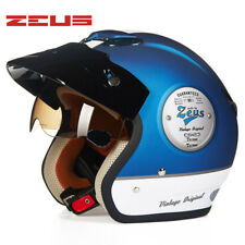ZEUS 381 3/4 Helmet Motorcycle Retro Scooter Open Vintage Riding Half Helmets