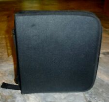 New Black 200 CD Holder Carry Storage Case Zipper Close Adjustable Strap