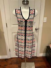 Nanette Lepore Multi-Color Geometric Print Wiggle Sheath Dress, Size Large