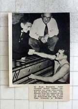 1951 Sir Frank Beaupair Congratulates John Marshall , John Davies, Us Swimmers