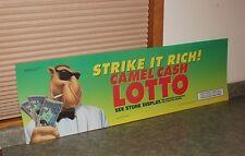 "Joe Camel Lotto Lighted Sign Plastic Insert - Size48-3/4"" x 14-1/4"""