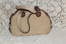 Very Lightly Used Tan Brown Woven BRIGHTON Purse Handbag Great Condition