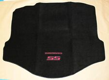 NEW BLACK Trunk Mat 2010-2015 Camaro Embroidered Double Logo and SS in Red Deck