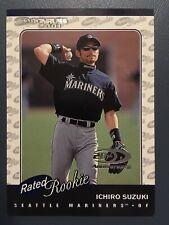 Ichiro Suzuki 2001 Donruss Rated Rookie Silver Rookie Card #195 1059/2001