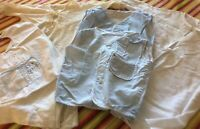 Lot Antique Vintage Boy Baby Doll 2 Diaper Shirts Flannel Gown Bib Knit Gown