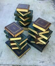 """Antique Italian Stack of Books Wooden Coffee Table Base 17"""""""