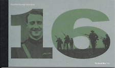 2016 GB ROYAL MAIL PRESTIGE STAMP BOOKLET SG DY18 CENTENARY 1ST WORLD WAR 3RD