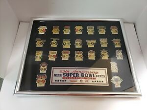 NFL 25th ANNIVERSARY SUPER BOWL COLLECTOR PIN SET 1966-1990 HARDEE'S DIET COKE 2