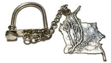 Colombia Charm Chain Keychain Key Holder Womens Vintage 900 Silver South America