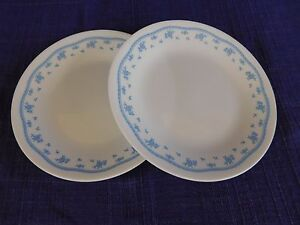 Corelle Morning Blue (2) BREAD PLATE SETs of TWO have more items to this set