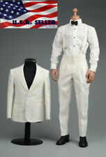 "1/6 Vintage Tuxedo Gentleman Suit Shoes Set For 12"" Hot Toys Male Figure ❶USA❶"