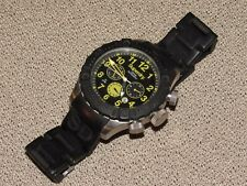 Superdry Syg142B Men's Scuba Diving Snorkel Deep Sea Wrist Watch Silicone Black