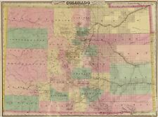 Colorado City Map Antique North America Wall Maps | eBay