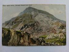 Ogwen Valley Vintage colour postcard c1910 Carnedd Dafydd from Idwal