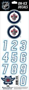 Winnipeg Jets Official NHL On Ice Blue Helmet Decals