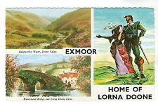 Exmoor - Multiview Postcard c1960s / Lorna Doone