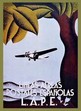 """18x24""""Travel Poster on Canvas.Home Room Interior design.Spain aviation.6603"""