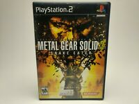 Metal Gear Solid 3 Snake Eater  PS2  Sony Playstation 2 Complete Tested AD