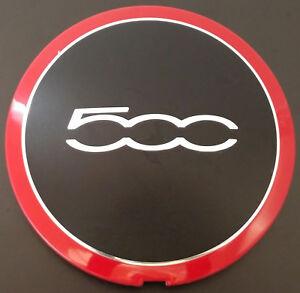 12 13 14 15 16 17 Fiat 500 Red Center Cap OEM PN 68078419AA