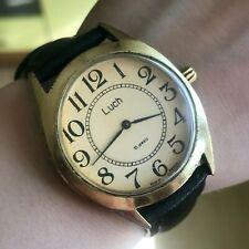 Hombres Informal Reloj Luch Dorado Clásico Mecánico 1801 Servicio Bielorrusia