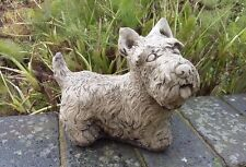 STONE GARDEN SCOTTISH TERRIER / SCOTTIE DOG PUPPY ORNAMENT