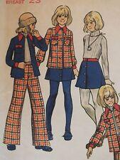 Amazing VTG 60s BUTTERICK 3260 Girls Shirt/Jacket Skirt & Pants PATTERN 6/25B UC