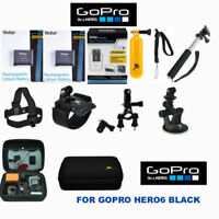 Battery for GoPro HERO6 Black  2PCS + FAST Charger + FULL PRO HD ACCESSORY  KIT