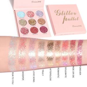 9 Color Glitter Eyeshadow Palette Waterproof Cosmetic Metallic Eye Shadow Makeup