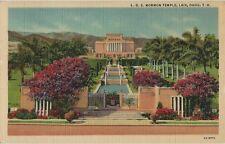 Vintage Postcard - L.D.S. Mormon Temple - Laie Oahu Territory of Hawaii