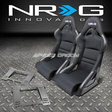 NRG DEEP BUCKET RACING SEATS+CUSHION+STAINLESS STEEL BRACKET FOR MK3 VW GOLF/GTI(Fits: Golf)