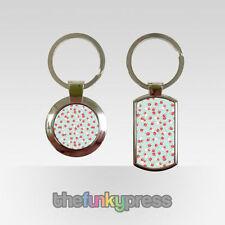 Porte-clés roses en métal pour femme