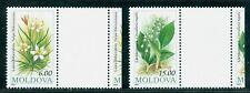 1993 Flowers,Biberstein Tulip,Lily of the valley,Moldova,MNH,Gutter/TAB variety