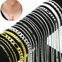 """Wholesale 1/5pcs Fashion 925 Silver Chains Necklace 16-30"""" Winsome Jewelry Lot"""