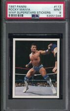 1997 Panini Wwf Rocky Maivia The Rock Dwayne Johnson Wrestling Card Psa 9 pop 2