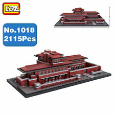 Loz 1018 Chicago Robie House Diy Mini Blocks Diamond World Famous Building Toy