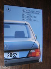Mercedes Benz 200D, 250D, 300D/D 4Matic, 300D Turbo/T. 4Matic Prospekt, NL, 1988