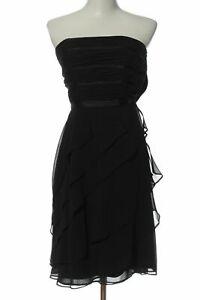 WHITE HOUSE BLACK MARKET Robe épaules nues noir élégant Dames T 38