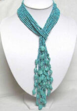 """Rows Turquoise Necklace 50"""" 4Mm Beautiful 4"""
