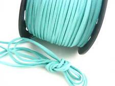 6 meters Blue Leather Cord soft Suede Lace velvet Thread DIY Bracelet findings