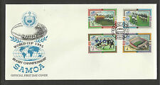 SAMOA 1995 RUGBY WORLD CUP Set of 4 FIRST DAY COVER