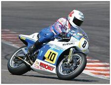 post card Suzuki RGB500 1983 Bikers' Classics Spa 2008 #10 (8) Mick Grant