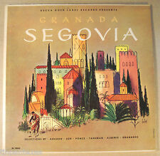 "Segovia Vinyl 12"" LP  DL 10063 Granada Spain Cover by Bobri Classical"
