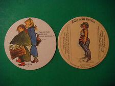 Beer Drinker Coaster ~*~ HEINRICH ZILLE Cartoonist sein Berlin #A3 Walking Girls