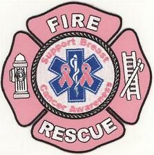Fire Rescue Support Breast Cancer Awareness Patch