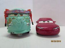 2-Pixar Disney Cars Diecast Toys Fillmore VW Bus Peace Love Red Natalie Certain