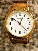 Retro Sekonda Ladies Gold Plated Expandable Bracelet WR30M Quartz Watch 4602AA