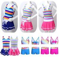 Girls Kids Child Swimwear Beachwear Bowknot Swimsuit Summer Bathing Suit Costume