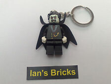 NEW LEGO BRICKS - 1 x VAMPIRE COUNT DRACULA MONSTER KEYRING - HALLOWEEN -
